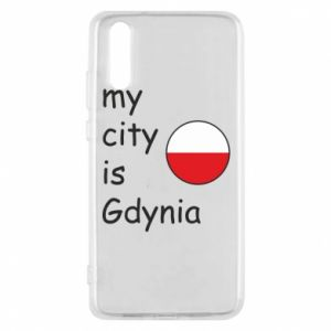 Etui na Huawei P20 My city is Gdynia - PrintSalon