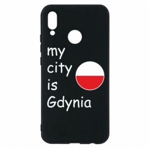 Etui na Huawei P20 Lite My city is Gdynia - PrintSalon