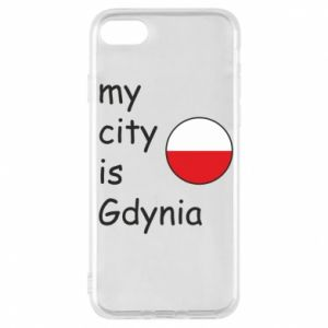 Etui na iPhone 7 My city is Gdynia - PrintSalon