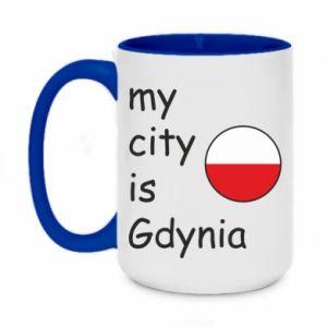 Two-toned mug 450ml My city is Gdynia