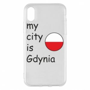 Etui na iPhone X/Xs My city is Gdynia - PrintSalon