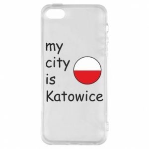 Phone case for iPhone 5/5S/SE My city is Katowice