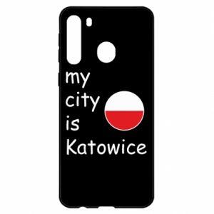 Samsung A21 Case My city is Katowice