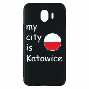 Phone case for Samsung J4 My city is Katowice