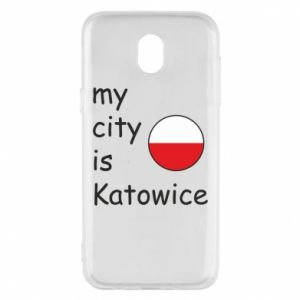 Phone case for Samsung J5 2017 My city is Katowice