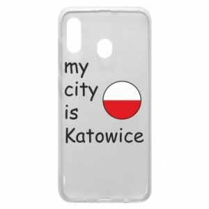 Phone case for Samsung A20 My city is Katowice