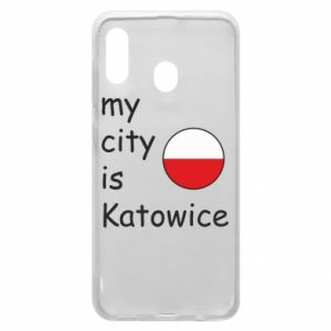 Phone case for Samsung A30 My city is Katowice