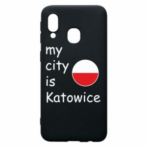 Phone case for Samsung A40 My city is Katowice