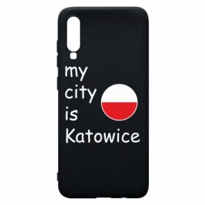 Phone case for Samsung A70 My city is Katowice