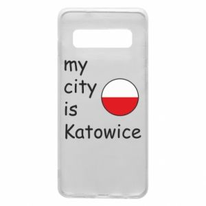 Samsung S10 Case My city is Katowice