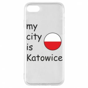 Phone case for iPhone 7 My city is Katowice