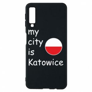 Phone case for Samsung A7 2018 My city is Katowice