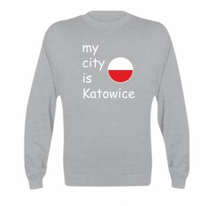 Kid's sweatshirt My city is Katowice
