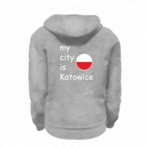 Kid's zipped hoodie % print% My city is Katowice