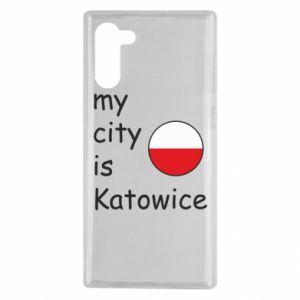 Samsung Note 10 Case My city is Katowice
