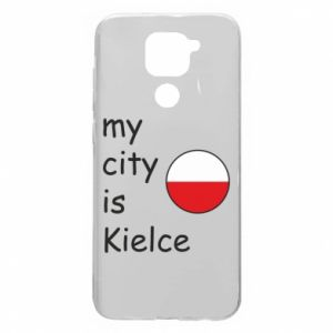 Xiaomi Redmi Note 9 / Redmi 10X case % print% My city is Kielce