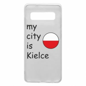 Samsung S10 Case My city is Kielce