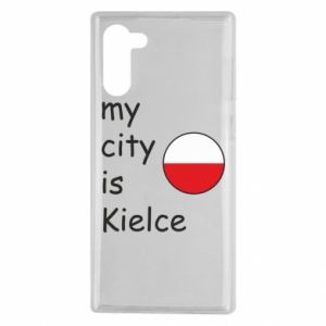 Samsung Note 10 Case My city is Kielce