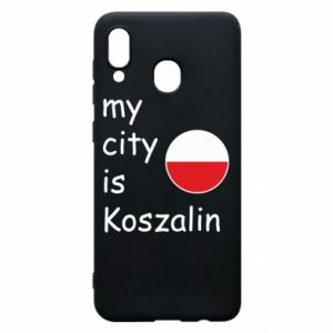 Samsung A20 Case My city is Koszalin