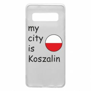 Samsung S10 Case My city is Koszalin