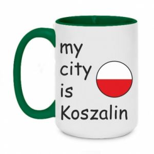 Two-toned mug 450ml My city is Koszalin