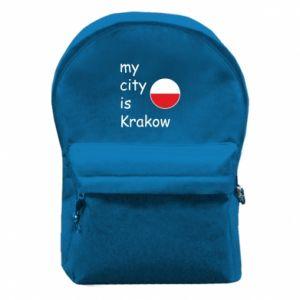Plecak z przednią kieszenią My city is Krakow