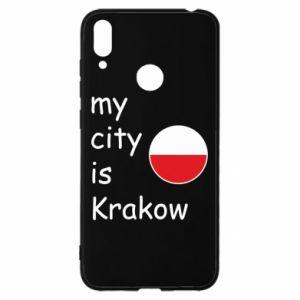 Etui na Huawei Y7 2019 My city is Krakow