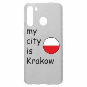 Etui na Samsung A21 My city is Krakow