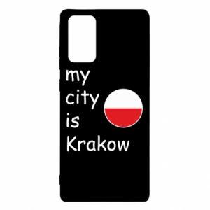 Etui na Samsung Note 20 My city is Krakow