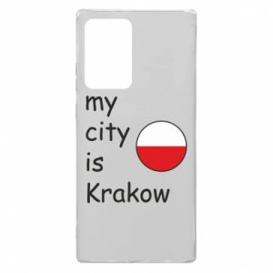 Etui na Samsung Note 20 Ultra My city is Krakow