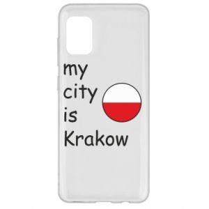 Etui na Samsung A31 My city is Krakow