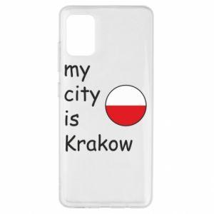 Etui na Samsung A51 My city is Krakow