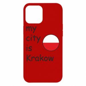 Etui na iPhone 12 Pro Max My city is Krakow