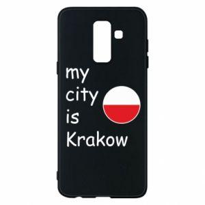 Etui na Samsung A6+ 2018 My city is Krakow