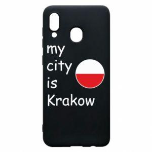 Etui na Samsung A20 My city is Krakow