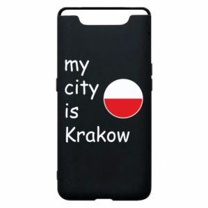 Etui na Samsung A80 My city is Krakow
