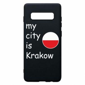 Etui na Samsung S10+ My city is Krakow