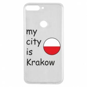 Etui na Huawei Y7 Prime 2018 My city is Krakow