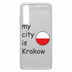 Etui na Huawei P30 My city is Krakow