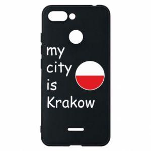 Etui na Xiaomi Redmi 6 My city is Krakow