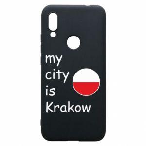 Etui na Xiaomi Redmi 7 My city is Krakow