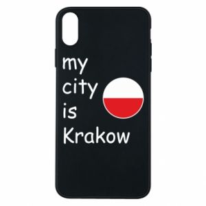 Etui na iPhone Xs Max My city is Krakow