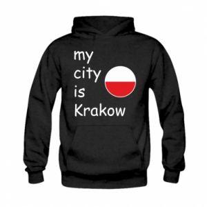 Bluza z kapturem dziecięca My city is Krakow
