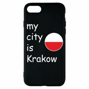 Etui na iPhone 8 My city is Krakow
