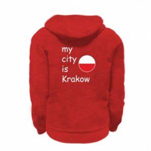 Bluza na zamek dziecięca My city is Krakow