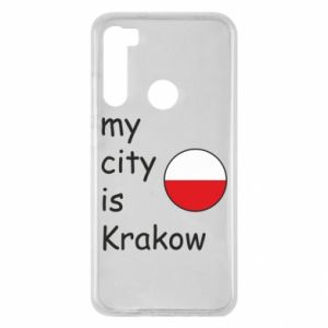 Etui na Xiaomi Redmi Note 8 My city is Krakow