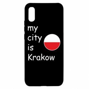 Etui na Xiaomi Redmi 9a My city is Krakow
