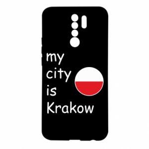 Etui na Xiaomi Redmi 9 My city is Krakow