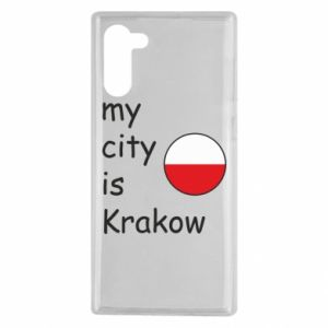Etui na Samsung Note 10 My city is Krakow