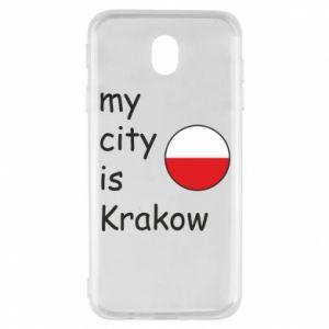Etui na Samsung J7 2017 My city is Krakow
